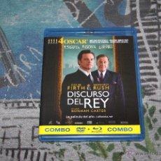 Cine: EL DISCURSO DEL REY - COLIN FIRTH - GEOFFREY RUSH - COMBO DVD + BLU-RAY DISC. Lote 49531094
