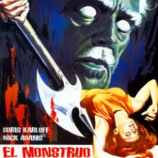 Cine: EL MONSTRUO DEL TERROR (BLU - RAY DISC PRECINTADO) TERROR DE CULTO BORIS KARLOFF. Lote 178275566