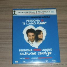 Cine: 2 BLU-RAY DISC PERDONA SI TE LLAMO AMOR Y PERDONA PERO QUIERO CASARME CONTIGO + POSTER PRECINTADO. Lote 148212138
