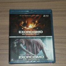 Cine: TERROR PACK 2 BLU-RAY DISC EXORCISMO EN GEORGIA Y EXORCISMO EN CONNECTICUT TERROR NUEVO PRECINTADO. Lote 105884642