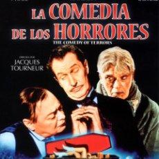 Cine: LA COMEDIA DE LOS HORRORES (BLU-RAY PRECINTADO) TERROR DE CULTO - VINCENT PRICE - BORIS KARLOFF. Lote 209863025