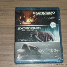 Cine: PACK 3 BLU-RAY DISC EXORCISMO EN CONNECTICUT + EN GEORGIA + THE POSSESSION NUEVO TERROR PRECINTADO. Lote 105884680