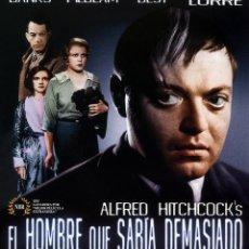 Cine: EL HOMBRE QUE SABIA DEMASIADO (BLU-RAY DISC BD PRECINTADO) PETER LORRE - DIRECTOR ALFRED HITCHCOCK. Lote 127857474
