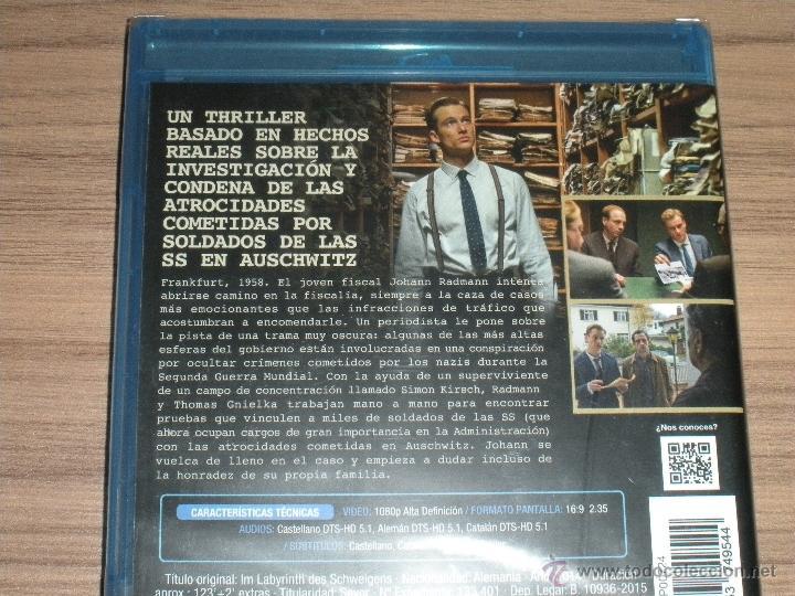 Cine: La CONSPIRACION del SILENCIO Blu-Ray Disc LOS Juicios de AUSCHWITZ Año 2014 Nuevo PRECINTADO - Foto 2 - 288485023