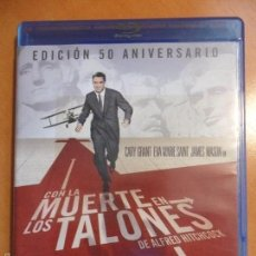 Cine: CON LA MUERTE EN LOS TALONES. BLURAY DE LA PELICULA DE ALFRED HITCHCOCK. CON CARY GRANT, EVA MARIE S. Lote 56868110