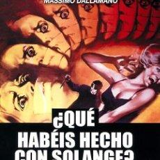 Cine: QUE HABÉIS HECHO CON SOLANGE (BLU-RAY DISC BD) GIALLO DE CULTO DE MASSIMO DALLAMANO. Lote 279453403