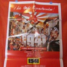 Cine: CINE - 1941 - UNA AUTENTICA LOCURA - CARTEL AFICHE ORIGINAL100 X 70 CM - CON SELLO DE TOLERADA. Lote 58268293