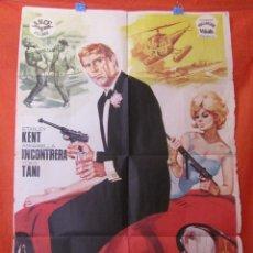 Cine: CINE - SINGAPUR HORA CERO - AÑO 1966 - CARTEL AFICHE ORIGINAL100 X 70 CM - VER. Lote 58269586