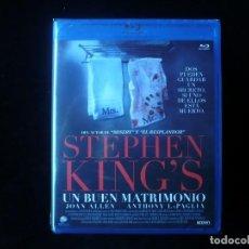 Cine: STEPHEN KING'S UN BUEN MATRIMONIO (BLURAY NUEVO PRECINTADO ). Lote 112917235