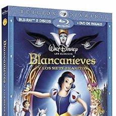Cine: BLANCANIEVES Y LOS 7 ENANITOS EDICION DIAMANTE 2 BLU RAYS Y UN DVD NUEVO PRECINTADO Y DESCATALOGADO. Lote 67707041