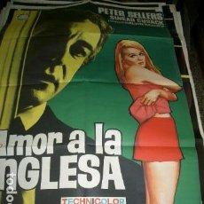 Cine: PÓSTER ORIGINAL DE 100X70CM AMOR A LA INGLESA, CON PETER SELLERS, AÑOS 60. Lote 71046233