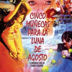 Cine: 5 MUÑECAS PARA LA LUNA DE AGOSTO (BLU-RAY DISC BD PRECINTADO) TERROR DE CULTO DEL MAESTRO MARIO BAVA. Lote 195180917