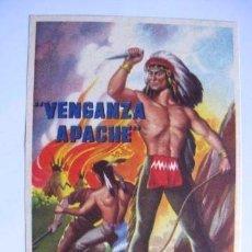 Cine: VENGANZA APACHE WESTERNS RARO PUBLICIDAD TEATRO CEREZO. Lote 81210036