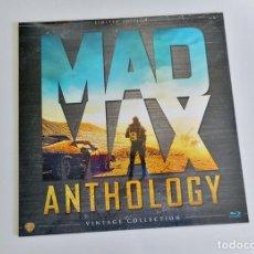 Cine: MAD MAX ANTOLOGÍA COLECCIÓN COMPLETA 4 BLU RAY FORMATO SUPER LUJO VINILO BLUE NUEVO PRECINTADO. Lote 90712363
