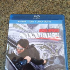 Cine: MISION IMPOSIBLE - PROTOCOLO FANTASMA -- TOM CRUISE -- BLU-RAY + DVD + COPIA DIGITAL --. Lote 93110980