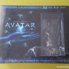Cine: AVATAR (EDICION COLECCIONISTA) - 3 BLU-RAY + 2 DVD + FIGURA - NUEVA Y PRECINTADA. Lote 95871879