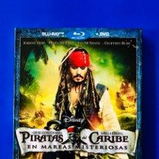 Cine: PIRATAS DEL CARIBE: EN MAREAS MISTERIOSAS (2011) BLU-RAY + DVD JOHNNY DEPP. Lote 71121077