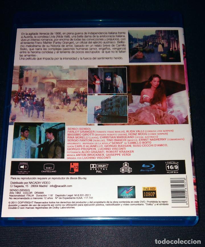 Cine: Senso Blu-Ray con libreto DESCATALOGADO Como nueva Luchino Visconti - Foto 2 - 105129783