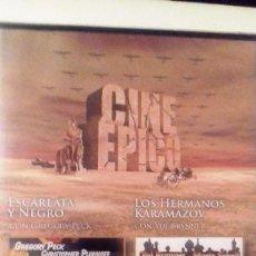 Cine: CINE EPICO (DOS PELICULAS). Lote 105863091