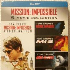 Cine: PACK MISION IMPOSIBLE 1-5 DIRIGIDAS POR BRIAN DE PALMA, JOHN WOO, J.J. ABRAMS, ... (5 BLURAY). Lote 105996603
