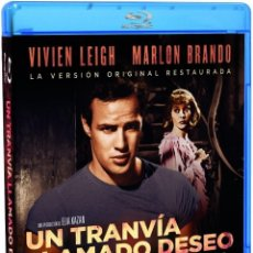Cine: UN TRANVÍA LLAMADO DESEO - [BLU-RAY] - PRECINTADO - MARLON BRANDO / VIVIEN LEIGH / ELIA KAZAN. Lote 110052563