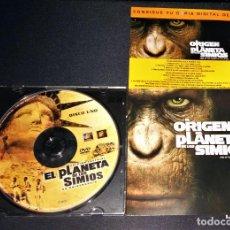 Cine: EL PLANETA DE LOS SIMIOS 1968 DVD + EL ORIGEN DEL PLANETA DE LOS SIMIOS DVD. Lote 110075759