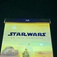 Cine: BLUE RAY STAR WARS LA SAGA COMPLETA 9 DISCOS CON + DE 40 HORAS ADICIONALES + LIBRETO MUY DIFICIL. Lote 110397107