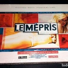 Cine: LE MÉPRIS EL DESPRECIO EDICIÓN COLECCIONISTA FRANCESA BLU RAY (CON ESPAÑOL), DVD, BSO, LIBRO, PÓSTER. Lote 110843519