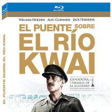 Cine: EL PUENTE SOBRE EL RIO KWAI DAVID LEAN WILLIAM HOLDEN ALEC GUINESS BLU RAY DISC ORIGINAL. Lote 111481899
