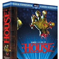 Cine: SAGA COMPLETA HOUSE PARTE I - II III - IV EDICION LIMITADA 4 BLU-RAY DISC + 8 POSTALES PRECINTADA. Lote 183235161