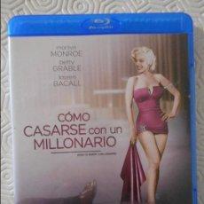 Cine: COMO CASARSE CON UN MILLONARIO. BLURAY DE LA PELICULA DE JEAN NEGULESCO. CON MARILYN MONROE, BETTY G. Lote 115020479