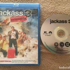 Cine: JACKASS 3 EXTENDIDA Y CINE JACK ASS III BLURAY DISC BLU RAY. Lote 119891219