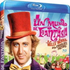 Cine: UN MUNDO DE FANTASIA (BLU-RAY) (WILLY WONKA AND THE CHOCOLATE FACTORY). Lote 128406958