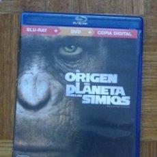 Cine: EL ORIGEN DEL PLANETA DE LOS SIMIOS (BLU-RAY+DVD). Lote 132397802