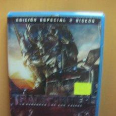 Cine: TRANSFORMERS. EDICION ESPECIAL 2 DISCOS CON CARACTERISTICAS ESPECIALES. BLU-RAY DISC.. Lote 132890130
