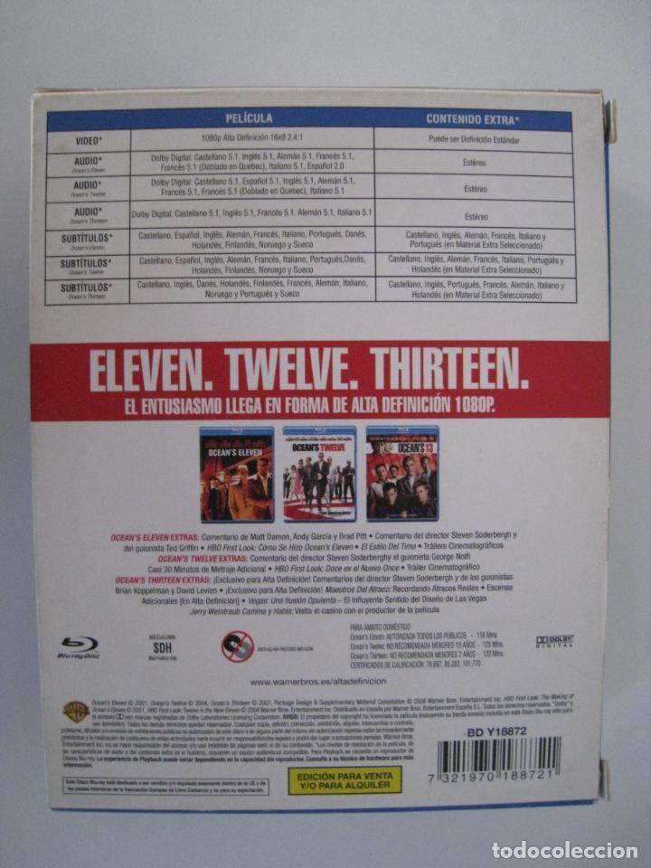 Cine: BLU-RAY - PACK OCEAN´S 11, 12, 13, - OCEAN´S ELEVEN / OCEAN´S TWELVE / OCEAN´S THIRTEEN. - Foto 5 - 135145038