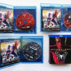 Cine: SPIDERMAN. LA TRILOGÍA. COMPLETA. BLU RAY. 3 DVDS. AÑO: 2012. DESCATALOGADA.. Lote 135236926