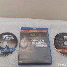 Cine: EL ORIGEN DEL PLANETA DE LOS SIMIOS (EDICION ESPAÑOLA) BLU - RAY + DVD. Lote 135268090