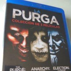 Cine: PACK BOXSET COLECCIÓN 3 PELÍCULA DVD THE PURGE + ANARCHY + ELECTION. Lote 136526266