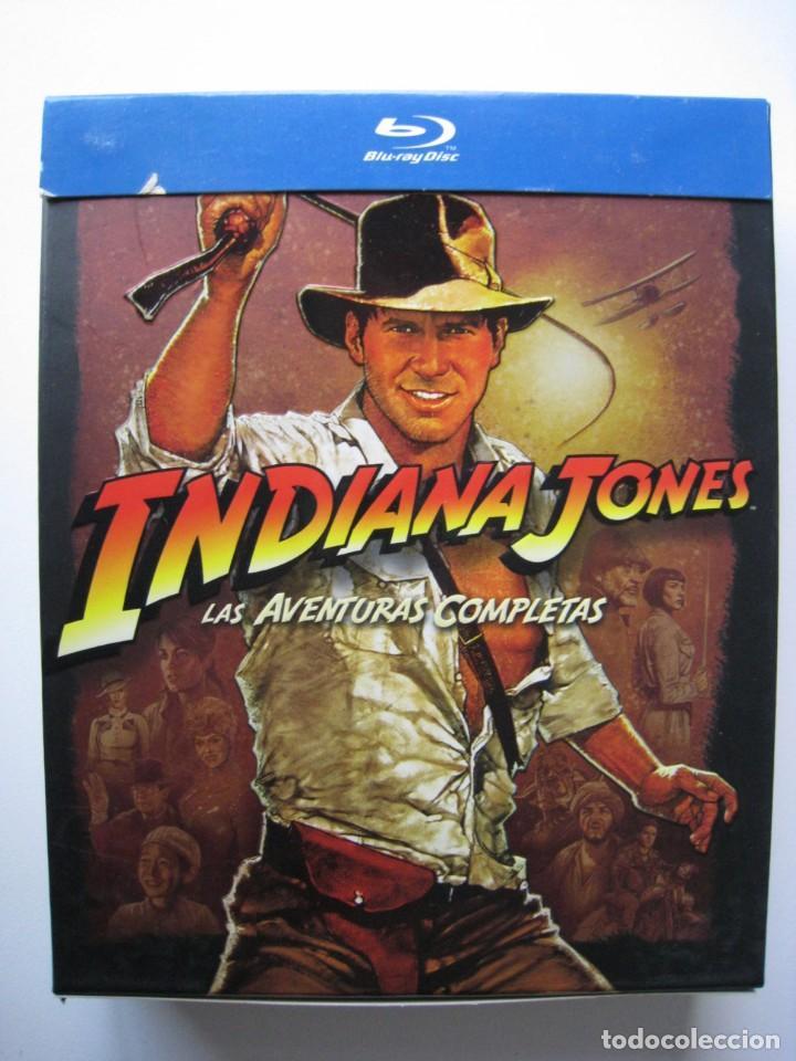 BLU-RAY - INDIANA JONES , LAS AVENTURAS COMPLETAS. (Cine - Películas - Blu-Ray Disc)