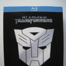 Cine: BLU-RAY - TRANSFORMERS - SET 3-PELICULAS.. Lote 136760086