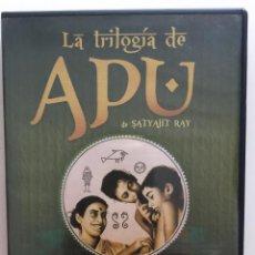 Cine: PACK DE DVDS CON LA TRILOGÍA DE APU DE SATIAJIT RAY. Lote 136910162