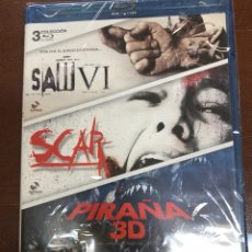 Cine: BLURAY 3 COLECCIÓN SAW VI/SCAR Y PIRAÑA 3D!!NUUEVO PRECINTADO. Lote 141317257