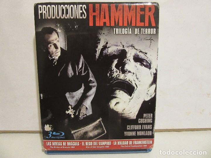 PRODUCCIONES HAMMER - TRILOGIA DEL TERROR - 3 X BLURAY - 2015 - SPAIN - NM+/VG+ (Cine - Películas - Blu-Ray Disc)