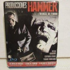 Cine: PRODUCCIONES HAMMER - TRILOGIA DEL TERROR - 3 X BLURAY - 2015 - SPAIN - NM+/VG+. Lote 143544174