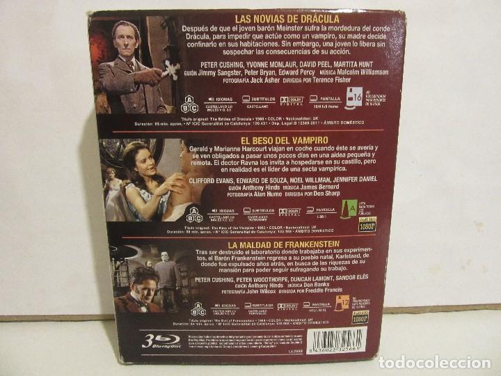 Cine: Producciones Hammer - Trilogia Del Terror - 3 x Bluray - 2015 - Spain - NM+/VG+ - Foto 2 - 143544174