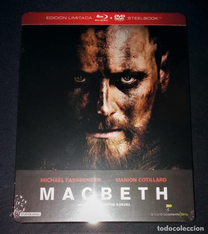 MACBETH EDICIÓN STEELBOOK METÁLICA BLU-RAY + DVD + POSTALES MICHAEL FASSBENDER MARION COTILLARD (Cine - Películas - Blu-Ray Disc)