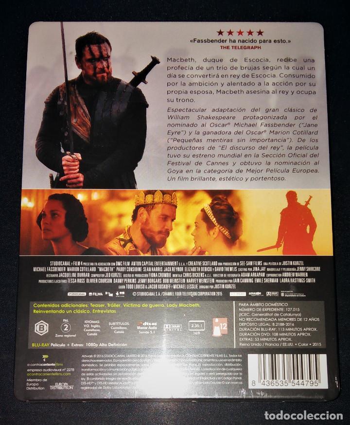 Cine: Macbeth Edición Steelbook Metálica Blu-ray + DVD + Postales Michael Fassbender Marion Cotillard - Foto 2 - 146963418