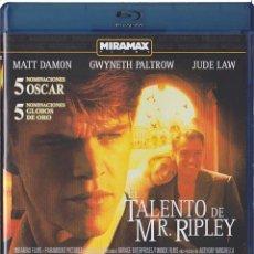 Cine: EL TALENTO DE MR. RIPLEY (BLU-RAY + DVD) (THE TALENTED MR RIPLEY). Lote 150874422