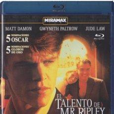 Cine: EL TALENTO DE MR. RIPLEY (BLU-RAY) (THE TALENTED MR RIPLEY). Lote 150874426